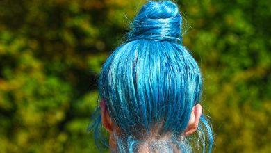 صبغ الشعر أزرق في المنام