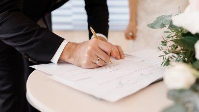 ورقة عقد الزواج في المنام للمطلقة